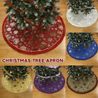 1.2m++Round+Christmas+Tree+Skirt+Base+Floor+Mat+Cover+Apron+Carpet+Party++