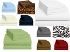 100 Egyptian Cotton Bed Sheet Set 800 Tc Queen/King All Size Solid Sheets