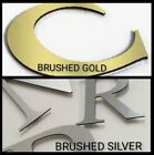 """Brushed Metal or White 24""""x16"""" OR 12""""x8"""" Sign Letters CNC Cut Weatherproof ACM"""