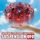 UFO Mini Drone Quad Induction Levitation Hand Operated Helicopter Toy Blue/ Red
