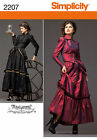 Simplicity Pattern 2207 Misses Victorian Steampunk Arkivestry Costume New Uncut