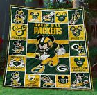 Limited Edition Gbpk Green Bay Packers Football Mickey Disney Quilt Blanket