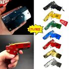 Rubber Band Gun Mini Metal Folding 6-shot With Keychain 7 Colors&rubber Gifts