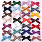 Cute Kids Velvet Knotted Bow Hair Clip Solid Color Baby Hairpin Girls Barrettes