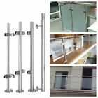 Grade 304 900mm-1100mm Stainless Steel with Glass Clamps Balustrade Posts