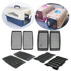 2Pcs Dog Puppy Cage Bed Large Plastic Mat Grid Plate Airline Transportation