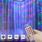 9.8*9.8FT Curtain Icicle Lights Wedding Party LED Fairy Christmas Indoor Outdoor