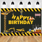 Construction Dump Truck Backdrop Boy Birthday Party Cars Photo Background Banner