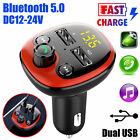 Bluetooth In-Car Kit Wireless FM Transmitter Dual USB Charger Adapter MP3 Player