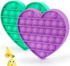 Push Pop It Silicone Sensory Fidget Toy Anxiety Stress Relief Bubble Game Heart