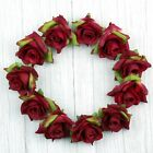 """Red 50Pcs 2"""" Rose Artificial Silk Flowers Heads for Wedding Home Decor"""