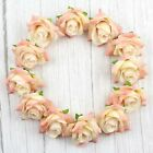 """Champagne 50Pcs 2"""" Rose Artificial Silk Flowers Heads for Wedding Home Decor"""