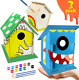 XIRUN Kids Crafts - Large DIY Bird House Kit for Kids - Build and Paint Paints & photo