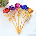 24k Gold Dipped Foil Rose Flower Valentine Day Lovers Mom Birthday Gift Bouquet