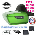 Radioactive Green King Tour Pack Luggage Black Hinges & Latch For 97-2020 Harley