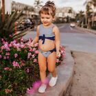 Toddler Swimsuit Striped Swimwear Tank Top Cute Summer Beach Bathing Suit Bather