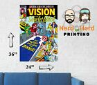 Vision and Scarlet Witch #6 1985 Marvel Comic Cover Wall Poster