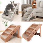 Pet Folding Stairs Dog Puppy Cat Foldable Steps Bed Sofa Car Ramp Lightweight UK