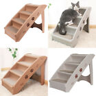 Folding Pet Stairs Puppy Dog Ladder Plastic 4 Steps Bed Sofa Car Doggy Ramp Home
