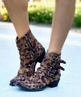 BL3099-8 OLD GRINGO JAYLENE CHEETAH PRINT LEATHER ANKLE BOOTS