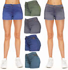 Внешний вид - Women Jean Casual Summer Mid Waist Stretch Fitted Denim Shorts