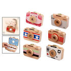 Baby Teeth Box Wooden Camera Style Teeth Saves Box Tooth Keepsake Case for Kids