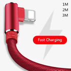 For iPhone iPad mini 90 Degree Fast Charger Data Sync USB Charging Cable Lead UK