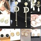 Very Sparkling Rhinestone Gold Pearl Crystal Earrings Stud Dangle Fashion Party