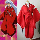 Внешний вид - HOT New INUYASHA Bright Red Kimono Costume Cosplay Uniform+Necklace