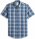 Essentials Men's Slim-Fit Short-Sleeve Casual Poplin, Blue, Size XX-Large