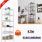 6-Shelf Wire Shelving Unit Storage Adjustable,Steel Organizer Rack for Kitchen#;