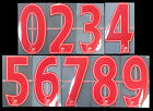 2007 2013 SPORTING ID LEXTRA PREMIER LEAGUE RED NUMBERS 260mm = PLAYER SIZEEnglish Clubs - 106485