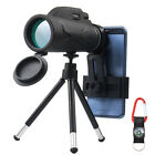 80X100 HD Zoom Monocular Telescope Phone Camera Starscope Hiking Hunting Tripod