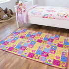 Bright Pink Playmats | Girls Butterfly Rug | Fun & Interactive Floral Play Mat