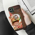 Sloth with Beautiful Flowers Sloth Lovers Gift Wild Life Phone Case For iPhone