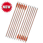 30inch Archery Wooden Arrows Turkey Feather Spine400 For Adult Hunting Shooting