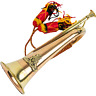 More images of MILITARY SOLID BRASS BUGLE Royal Artillery Badge Army music band BESPOKE