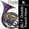 More images of Purple STERLING Bb / F Double FRENCH HORN • PRO QUALITY • NEW • Case