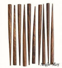 10 Hand made Dark Stained Indian Rose Wood Hair Sticks, End-drilled