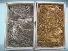 "HALF POUND Sequin Pins GOLD or SILVER 1/2"", 3/4"", 1"""
