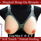 Full Strap-On Silicon Breast Form Bra TV TG Breasts