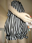 NEW Black White striped Jumpsuit Play suit Bloomers Pantaloons Party Rock Gothic