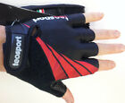 Classic Summer CYCLING GLOVES in Black/Red. Made in Italy by TeoSport