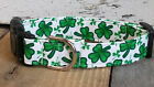 St. Patrick's Day Clover dog collar with leash set option