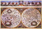 Antique World Map Poster Mural Reproduction by W. Bleau