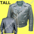 BIG TALL MENS BUFFALO LEATHER MOTORCYCLE BIKER JACKET