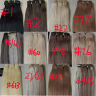 """AAA 15""""-36"""" Remy Human Hair Weft Extensions Straight 100g Width 59"""" More Colors"""