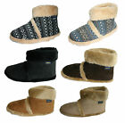 Men's Coolers Furry Ankle Boot Slippers Sizes 7 -12