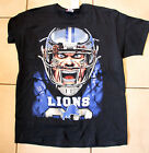 Detroit Lions Big Face BLACK SS Adult T-shirt