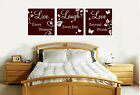 Live Laugh Love Inspirational Quote Vinyl Sticker Wall Art Lounge Bedroom HS WA8